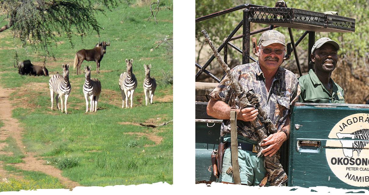 Jagen in Namibia auf der Gästefarm Okosongoro Namibia - Pirschfahrt