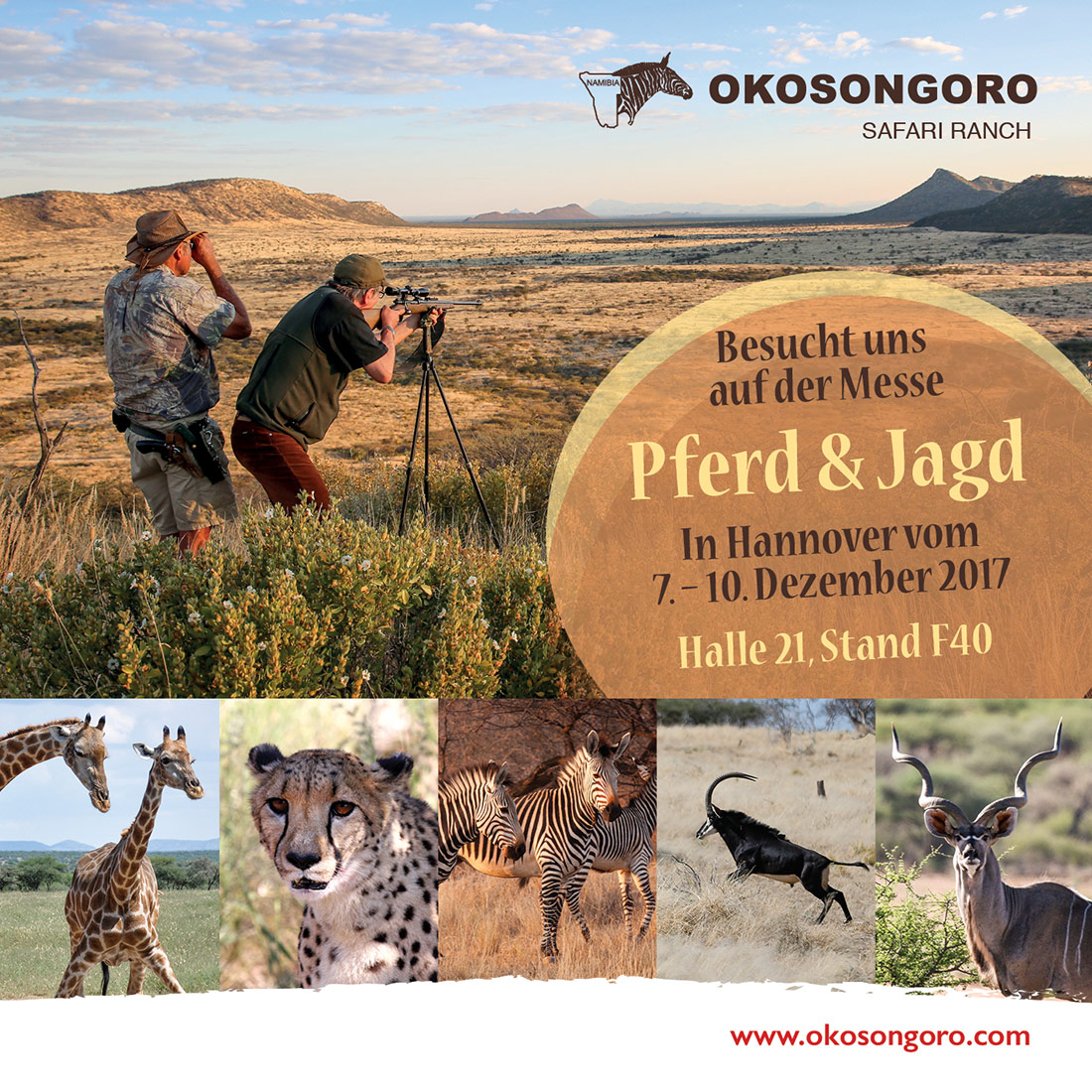 Jagen in Namibia auf der Okosongoro Safari Ranch